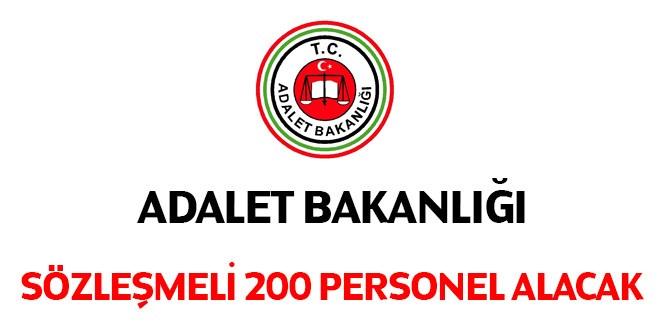 Adalet Bakanlığı 200 sözleşmeli personel alınacak