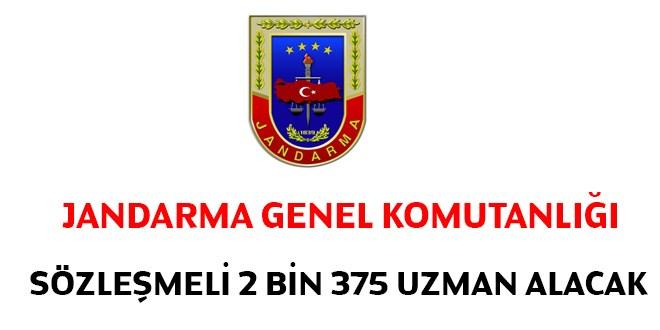 Jandarma Genel Komutanligi Sozlesmeli 2 Bin 375 Uzman Erbas Alacak